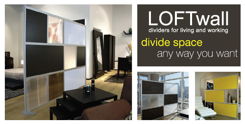 LOFTwall Dividers for Living and Working