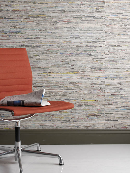 Newsworthy Wallcovering by Lori Weitzner