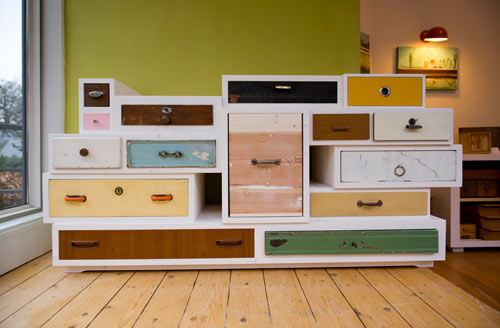 Discarded Drawer Dressers by Entwurf-Direkt