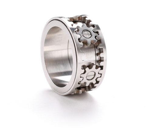 watch - Gear Wedding Ring