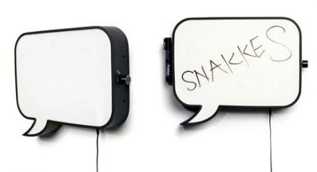 Snakkes Speech Bubble Lamp and Whiteboard