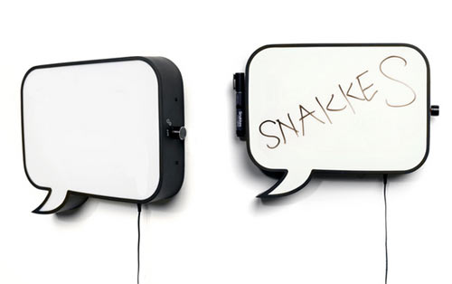 Snakkes Speech Bubble Lamp and Whiteboard in home furnishings  Category