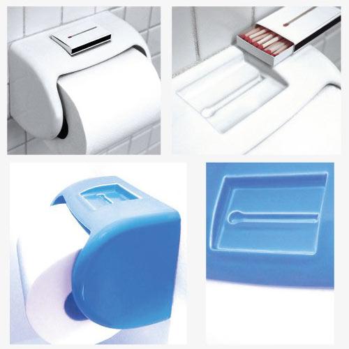 TP Dispenser with Matchbox