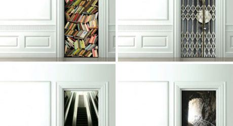 Trompe-l'oeil Door Wallpaper