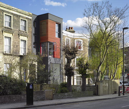 76 Newington Green Road in the UK by Amenity Space