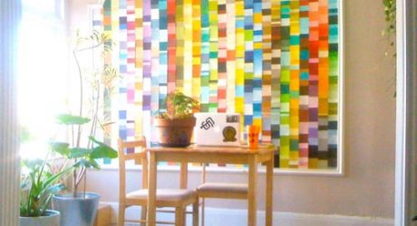 Friday Afternoon Inspiration: Sally's Paint Chip Wall
