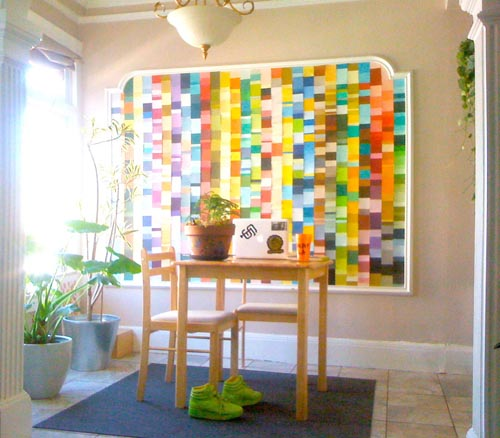 table graphic design inspiration friday afternoon inspiration sally paint chip wall design milk rh com corporate calendar wall design inspiration creative types of interior