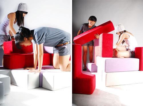 TAT Tris Modular Seating for Children in main home furnishings  Category