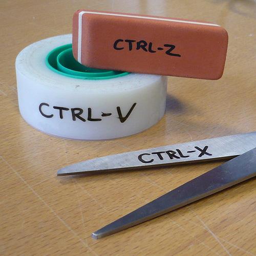 Ctrl-V, Ctrl-X, Ctrl-Z