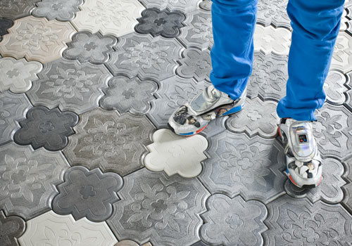 Camelion Floor Tiles by IVANKA - Design Milk