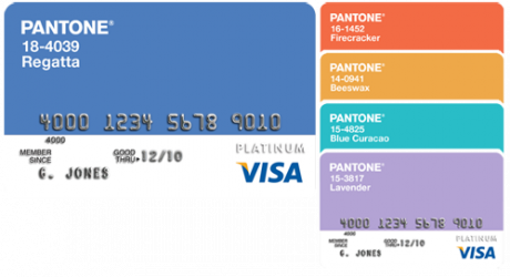 Pantone Visa Card
