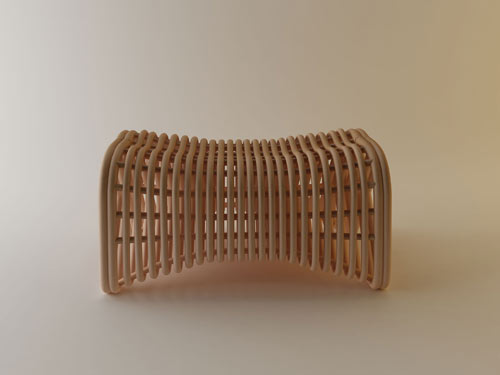 Doeloe Lounge Chair and Pretzel Bench by Abie Abdillah in main home furnishings  Category