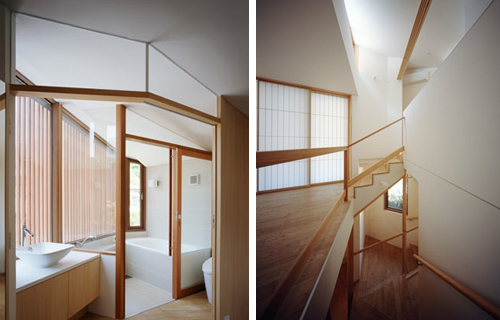 Oblique house b in japan by cell space architects design for Architecture oblique