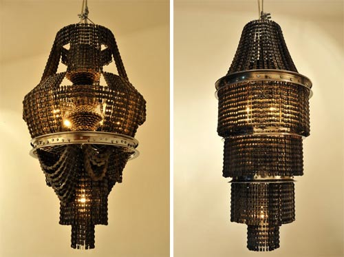 Chandeliers Made of Bike Parts