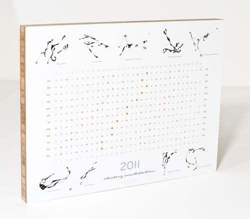 Cloudery's 2011 Constellation calendar is printed on one of Plywerk's