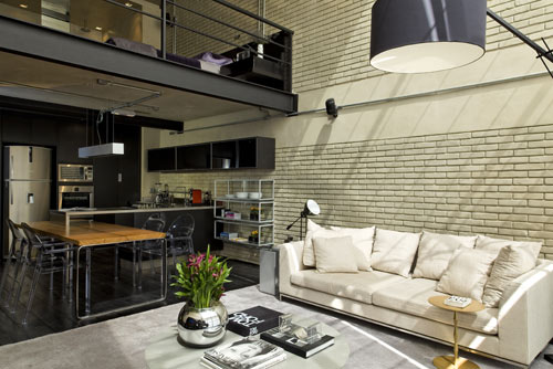 Industrial Loft in Brazil by Diego Revollo