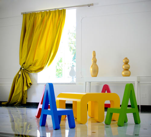 Letters Furniture for Kids by Alessandro Di Prisco