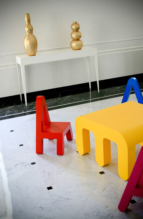 Letters furniture for kids by alessandro di prisco for Furniture 5 letters