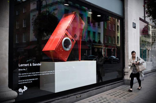 Fashion Meets Appliances in Creative Window Design