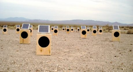 Sun Boxes Solar-Powered Speakers Music Installation