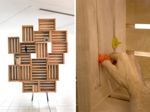 Twist and Lock Shelving by Harry Thaler