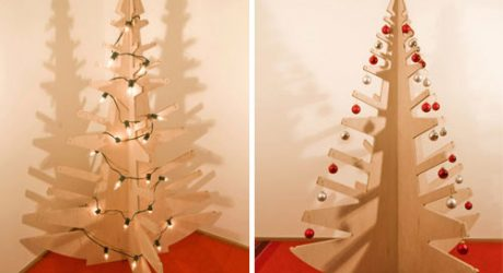 Plywood Christmas Tree by BUILD LLC