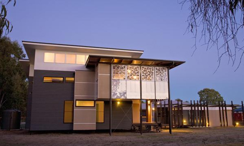 Woodgate beach house in australia by bark architects for Beach house plans australia