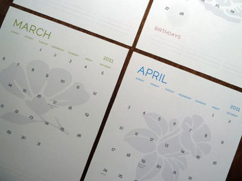 2011 calendar uk printable. 2011 Modern Calendars
