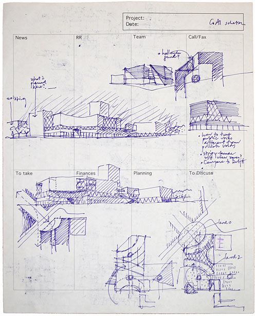Gesture: Hand Drawings by Architects in main art architecture  Category