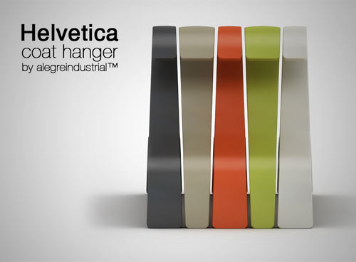 Share ... & Helvetica Hanger - Design Milk
