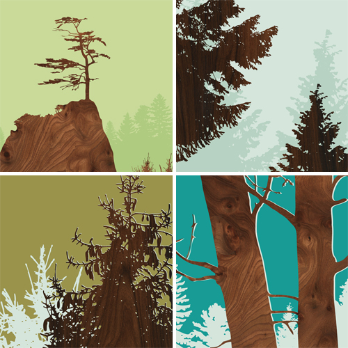 Forest Prints from Jefdesigns
