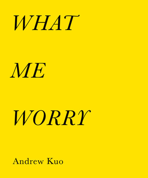What Me Worry by Artist Andrew Kuo