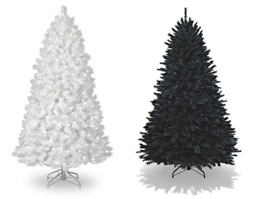 how about a white or black tree from treetopia they also have tons of other colors even crazy ones like rainbow