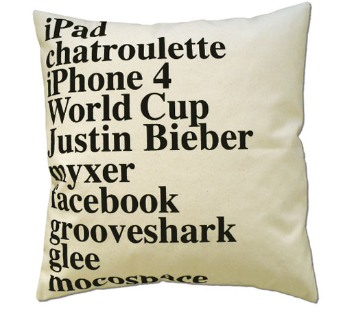 2010 Google Search Pillow