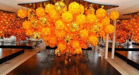The Comet Lamp by Tom Dixon for Veuve Clicquot
