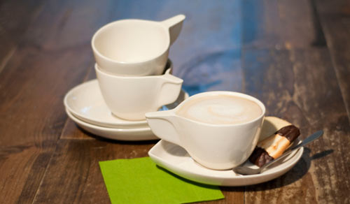 Cappuccino Cup and Saucer Set by Etienne Carignan