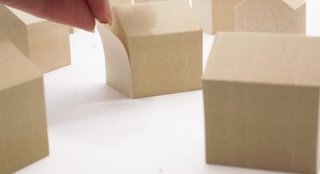 House-Shaped Sticky Notes Made from Scrap Wood