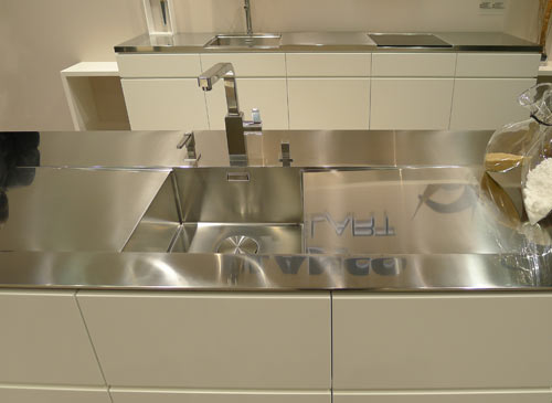 By Blanco U2014 Foreground: Stunning Integrated Stainless Steel Countertop And  Sink.