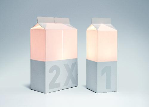 Milk Carton Lamps
