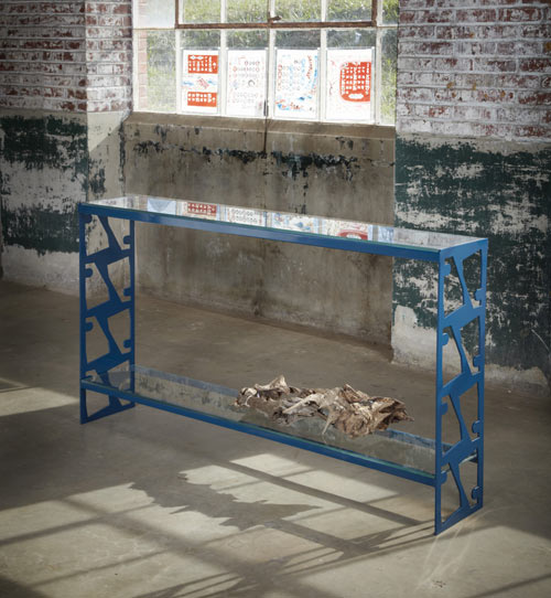 Scrap Metal Tables by Bevara Design House in main home furnishings  Category