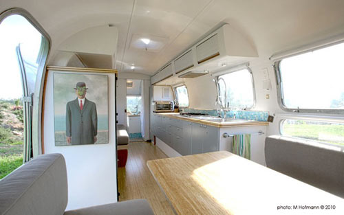 Vintage Airstream Becomes a Cozy Place to Live and Work
