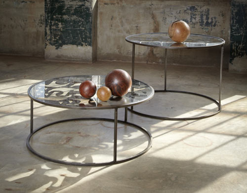 Scrap Metal Tables by Bevara Design House in home furnishings  Category
