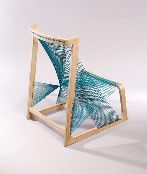 Looks Like A Harp And Reminds Me Of These String Chairs By Egawa+zbryk.
