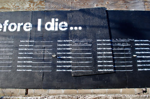 Before I Die by Candy Chang
