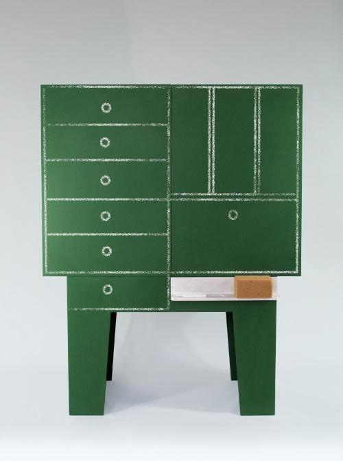Blackboard Chalkboard Storage Cabinet