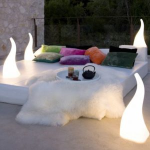 Flame Lamp by Santiago Sevillano