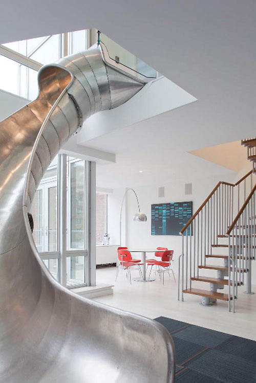 An NYC Home with a Steel Slide by Turett Collaborative Architects in main architecture  Category