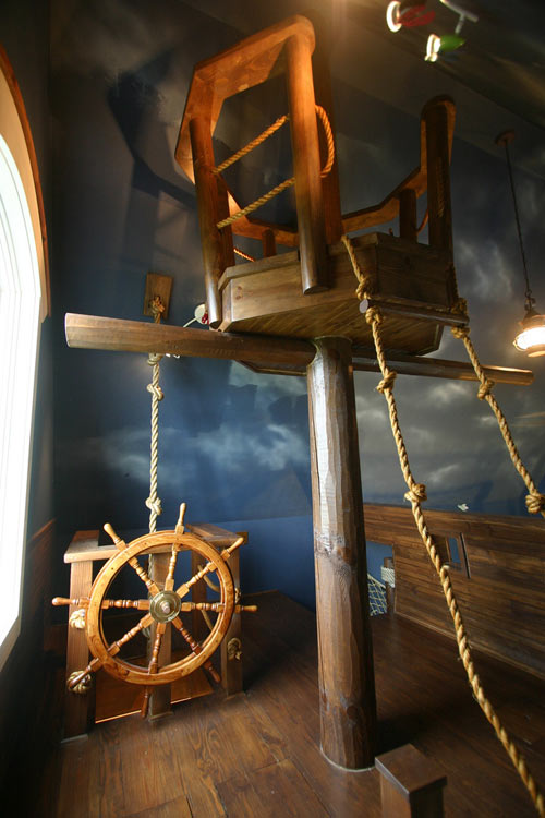 The Pirate Ship Bedroom by Kuhl Design Build