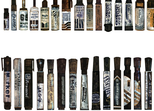 The Largest Collection of Black Markers in the World in art  Category