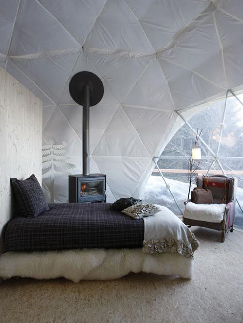 Whitepod in main interior design architecture  Category